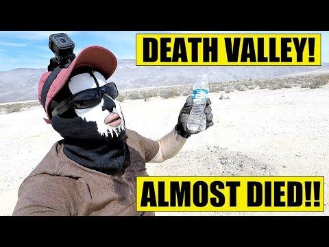 LICKING DEATH VALLEY DESERT!! - ALMOST DIED!!!
