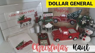 CHRISTMAS DOLLAR GENERAL HAUL 2019| VINTAGE RED TRUCK DECOR | FARMHOUSE CHRISTMAS