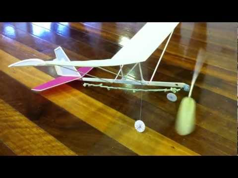 Hangar Rat indoor rubber band powered model aircraft