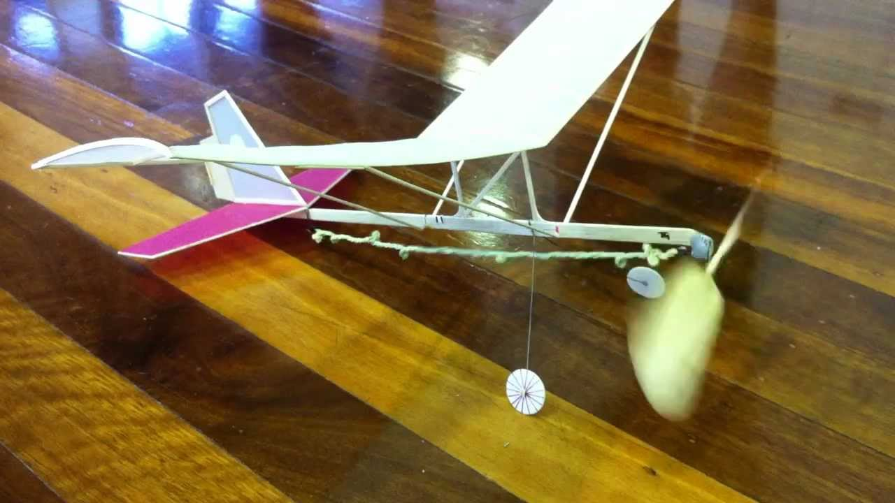 Hangar Rat Indoor Rubber Band Powered Model Aircraft Youtube