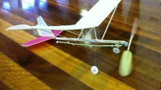 Hangar Rat indoor rubber band powered model aircraft