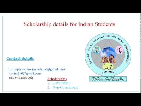 Various scholarship details for Indian students in Tamil