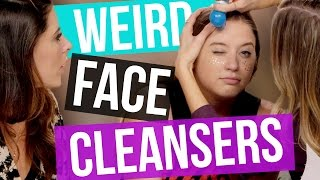 4 Weird Facial Cleansers (Beauty Break)