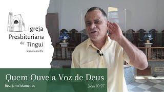 Quem ouve a voz de Deus - Minuto da Palavra - IPB Tingui - 02/7/2020