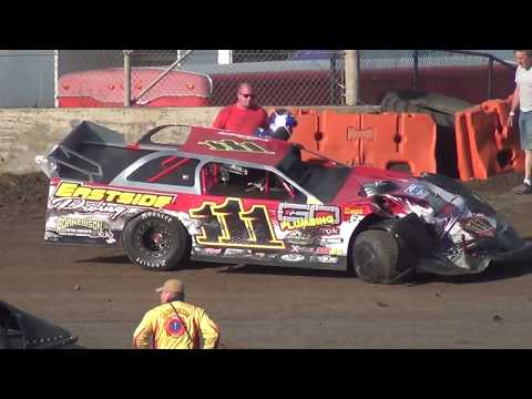 #111 Joey Tanner-Trophy Dash-Battle & Wreck @Willamette Speedway 2018