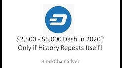Dash Analysis, Possible $2,500 - $5,000 in 2020!