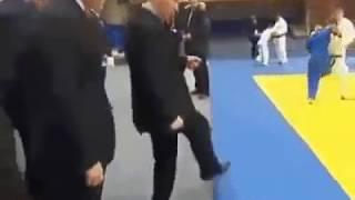 Урок дзюдо от Путина