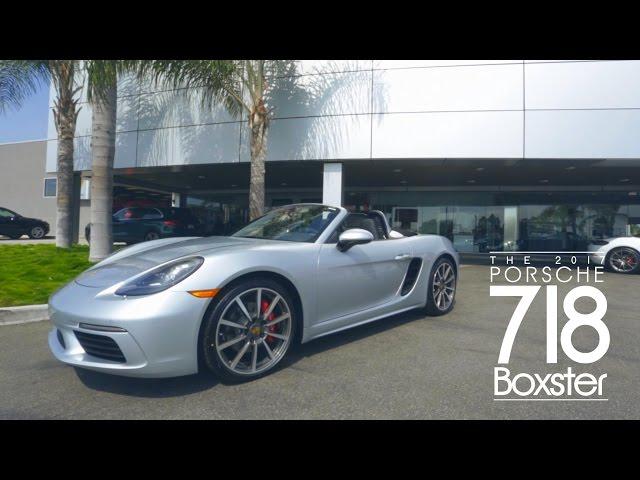 New Porsche 2017 (718) Boxster Test Drive
