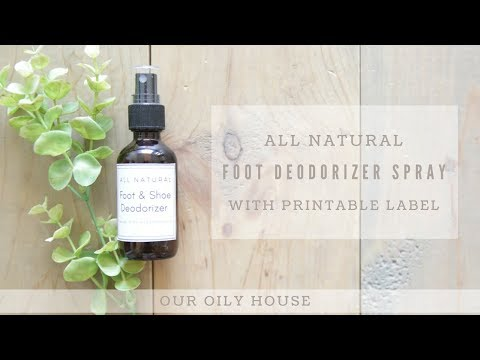 DIY Foot and Shoe Deodorizer Spray | Essential Oils for Healthy Toenails and Feet