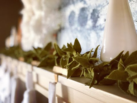 DIY The Prettiest (and Easiest) Felt Leaf Garland