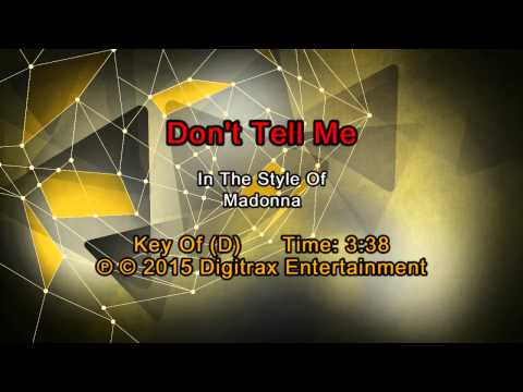 Madonna - Don't Tell Me (Backing Track)
