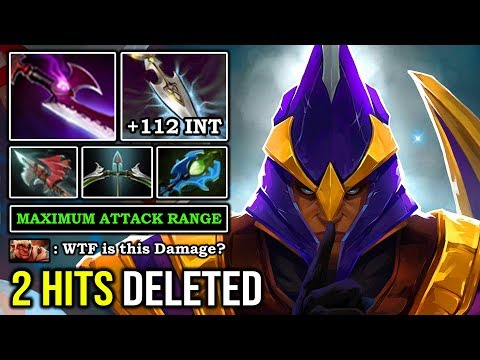 WTF 2 HITS DELETED Max INT Pro Silencer EZ Counter Enemy With Invisible Silver Edge 9K MMR DotA 2