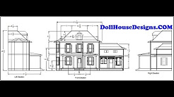 DollHouseDesignsCOM Build Your Own DollHouse using our plans Ariella  miniature blueprints pdf