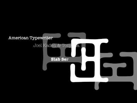 American Typewriter Ident Idea 5