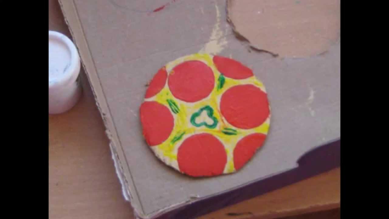 Como hacer pizza de carton youtube for Como hacer una cocina de carton