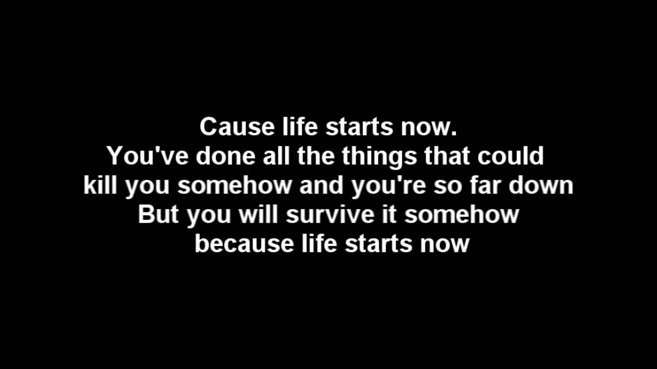 Three Days Grace Life Starts Now Lyrics Hq Audio Youtube