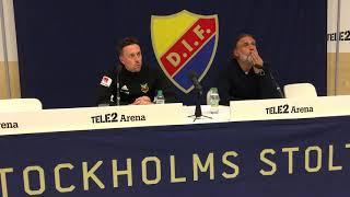 Presskonferens efter ÖFK:s seger med 2-0 mot Djurgården