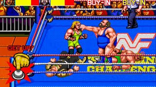 WWF WrestleFest ( Mame / Arcade ) - Full Playthrough - No Death