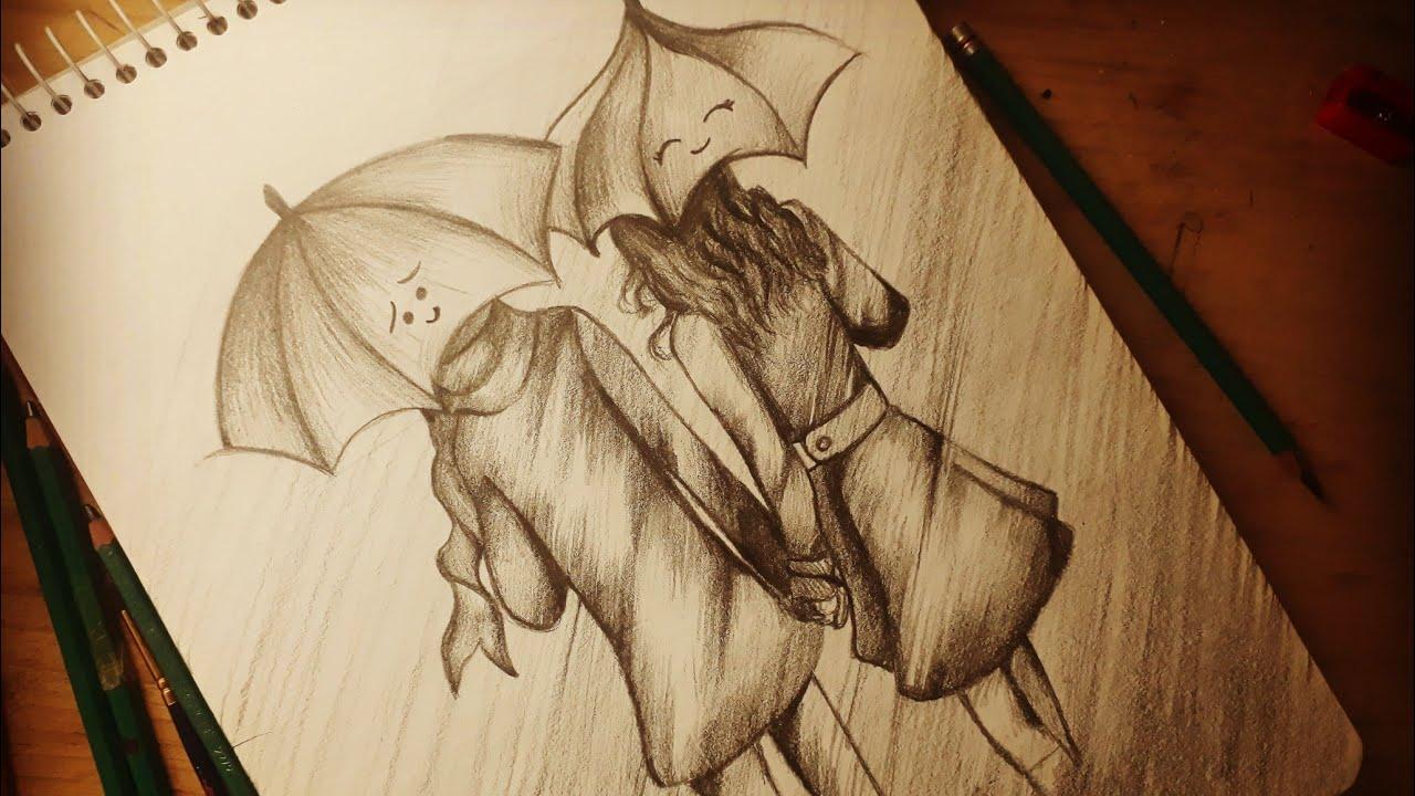 Dibujos A Lapiz De Amor: DIBUJANDO A UNA PAREJA ANIME A LAPIZ