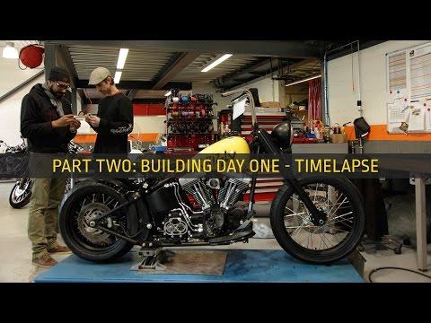 Harley-Davidson Fatboy Custom Build Day One Timelapse