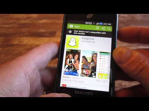 How to Screen Capture (Screenshot) on a Samsung Proclaim - Snapchat on Samsung Proclaim