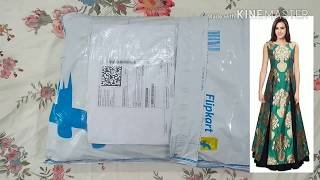 Unboxing drift straight art silk gown from flipkart | party gown | party wear gaun dress photo