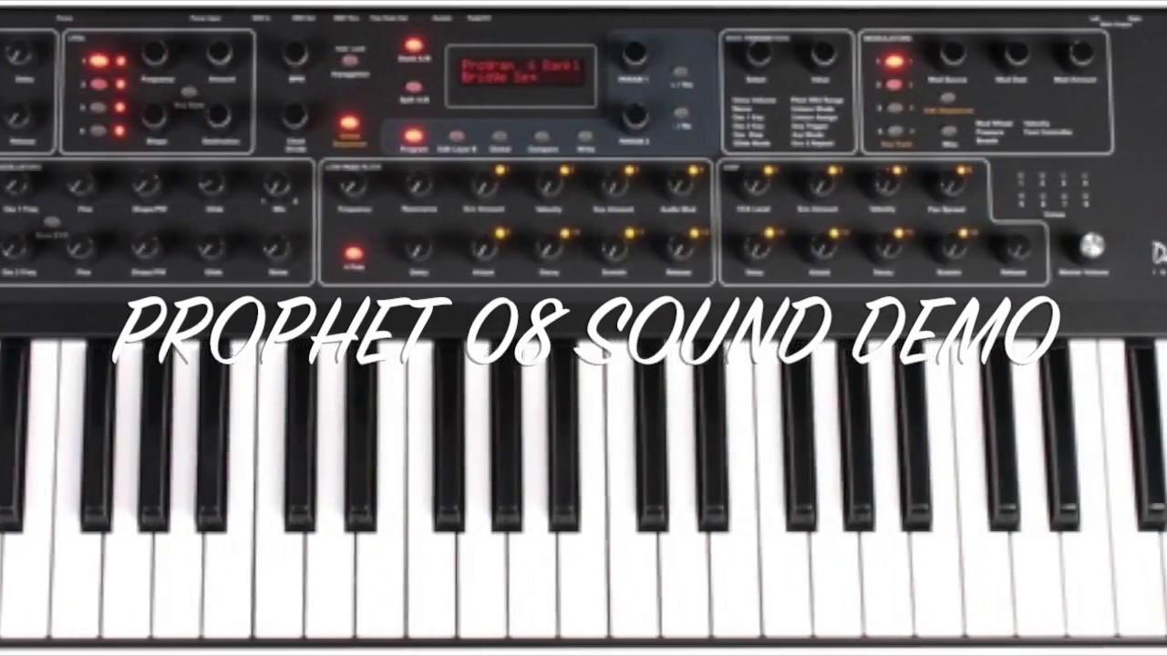 dave smith instruments prophet 08 sound demo rev2 youtube. Black Bedroom Furniture Sets. Home Design Ideas
