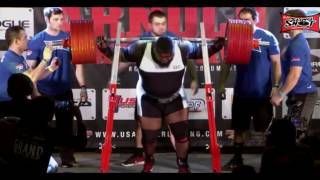 Ray Williams New World Record total  1105kg/2436lb 2017