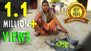 INDIAN VILLAGE STYLE COOKING | DELICIOUS MANGO RECIPE | INDIAN KITCHEN ROUTINE