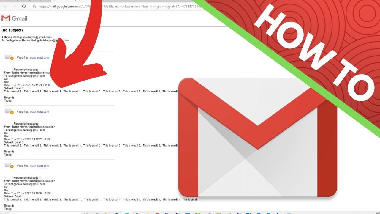How To Print Multiple Emails In Gmail Youtube