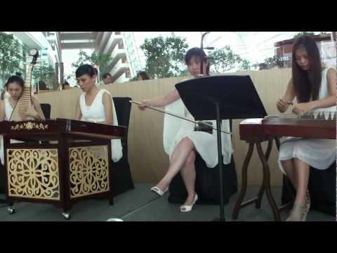 Traditional Chinese Music 剪羊毛 by Chinese Ensemble Quartet at Marina Bay Sands Singapore 2010