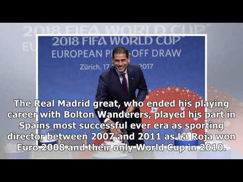 Real madrid legend fernando hierro returns to spanish fa