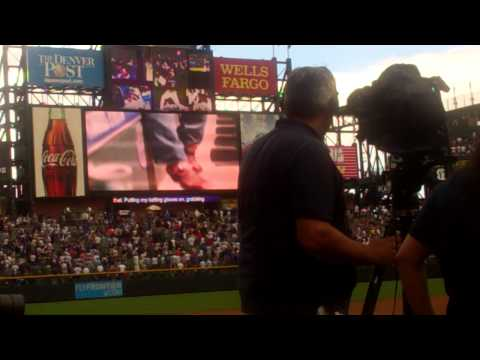 Todd Helton Video at  #17 Retirement, 8.17.14