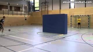 Handball position training for backcourt players