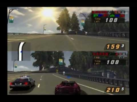 Need For Speed Hot Pursuit 2 Split Screen Pursuit Ps2 Youtube