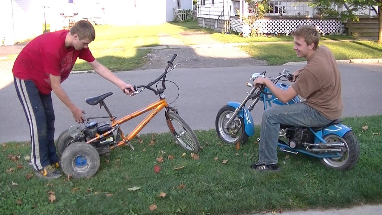 Mini Chopper Vs. Homemade 4hp Trike - YouTube on homemade mini truck, homemade pressure cooker, homemade jet ski, homemade washing machine, homemade deep fryer, homemade go kart, homemade mini jeep, vintage outlaw chopper, homemade mini knife, homemade mini tractor, homemade motorbike, homemade chopper bicycles, homemade mini bike, homemade helmet, homemade tricycle plans, homemade trike, homemade mini bar, homemade mini digger, homemade mini boat, homemade mini buggy,