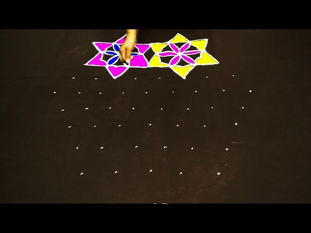 simple rangoli  with dots easy rangoli designs kolam designs muggulu  rangoli dsigns  easy rangoli