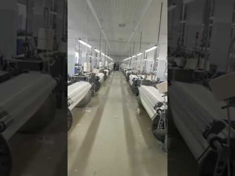 Air jet looms in Russia weaving factory was production by Qingdao Hoffon.