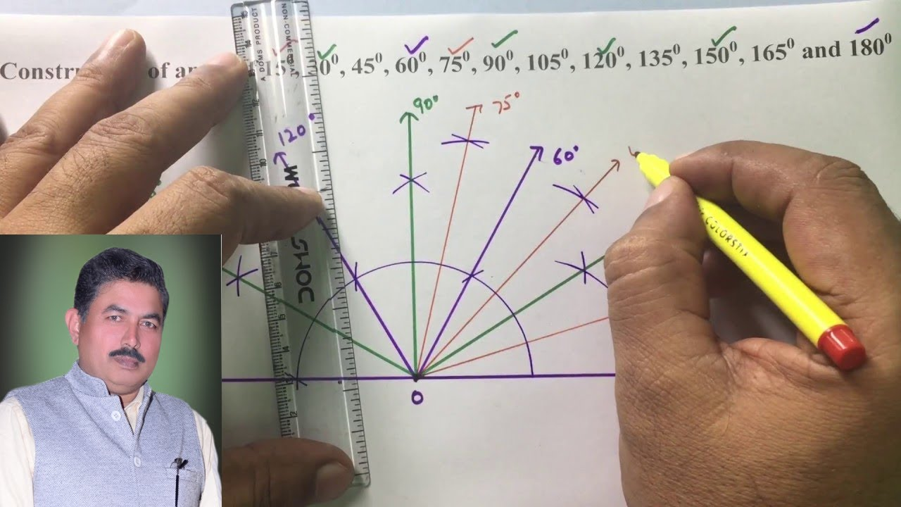 constructing an angle of 90 degrees