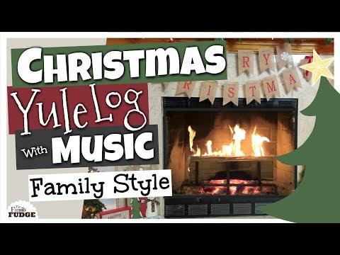 ❤ The Cutest ❤ YULE LOG Fireplace with Christmas MUSIC 🎄 Upbeat Christmas Carols Playlist  🎵