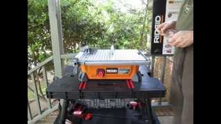 Keter Work Table And Ridgid Jobsite Tile Saw