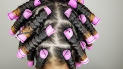 Medium Perm Rod Set   Wet Natural Hair   Fortify'd Naturals