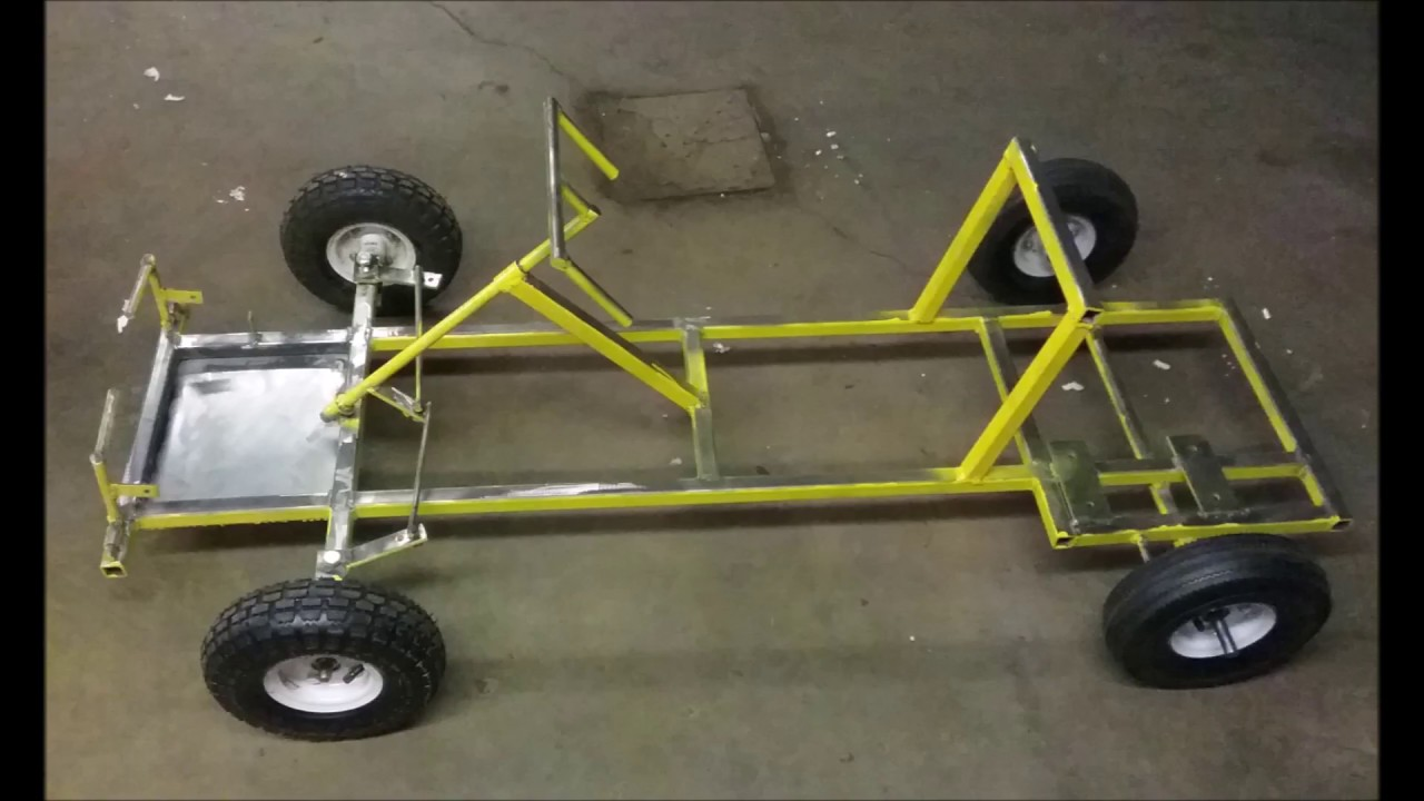 homemade go kart frame build - YouTube