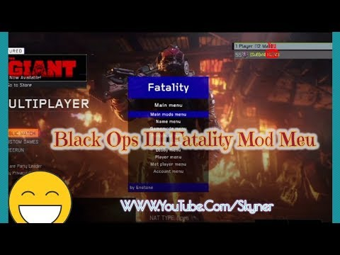 Black Ops 3 Mod Menu Fatality By Enstone(Rank- Derank and more..