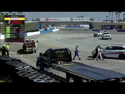 IMSA WeatherTech SportsCar Championship 2017. Twelve Hours of Sebring. Joel Miller Hard Crash