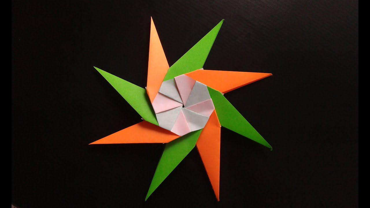 Christmas origami instructions hex star maria sinayskaya youtube - How To Make A Paper Star Origami Youtube Salsuba Images