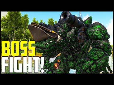 CRAZY GOLEM BOSS FIGHT! - Ark Survival Evolved Modded Ep 12 ( Ark Primal Fear & More )