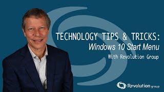 Technology Tips & Tricks 2: Windows 10 Start Menu