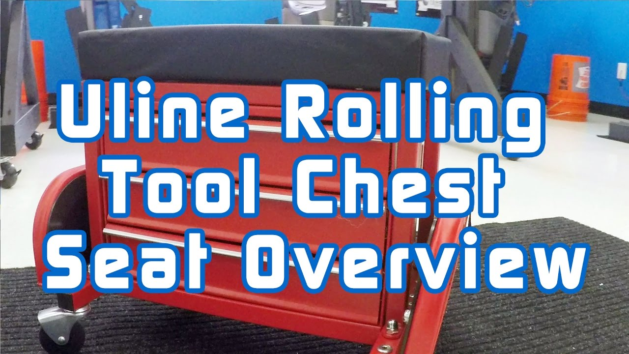 Uline Rolling Tool Chest Seat Overview Youtube