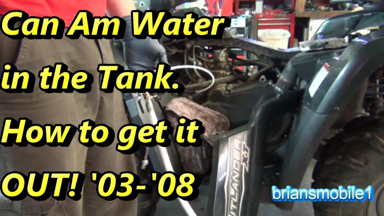 can am water in the fuel tank youtube Can-Am Commander 4 can am water in the fuel tank